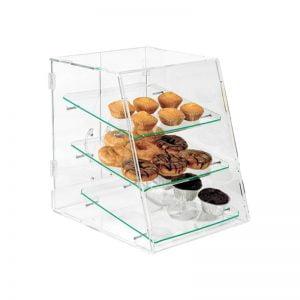 Βιτρίνα παρουσίασης plexiglass 3 επιπέδων με με διάφανους δίσκους Onda
