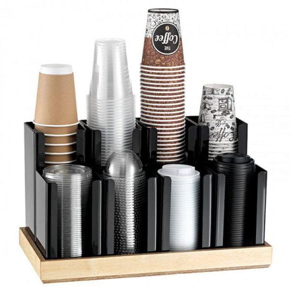 Θήκη ποτηριών με ξύλινη βάση 6 θέσεων