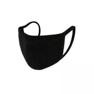 Yφασμάτινη μάσκα προστατευτική ελληνικής κατασκευής - μαύρο χρώμα