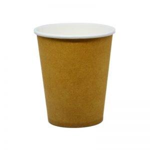 Χάρτινο ποτήρι μιας χρήσης καφέ craft (μονό τόιχωμα)