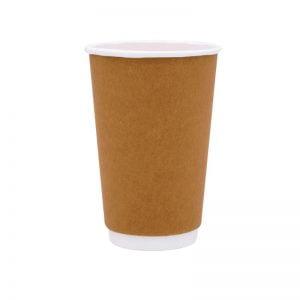 Χάρτινο ποτήρι μιας χρήσης καφέ Craft 16oz - διπλό τοίχωμα