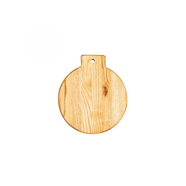 Πιατέλα ορεκτικών στρογγυλή από ξύλο καστανιάς Φ17x1.9cm