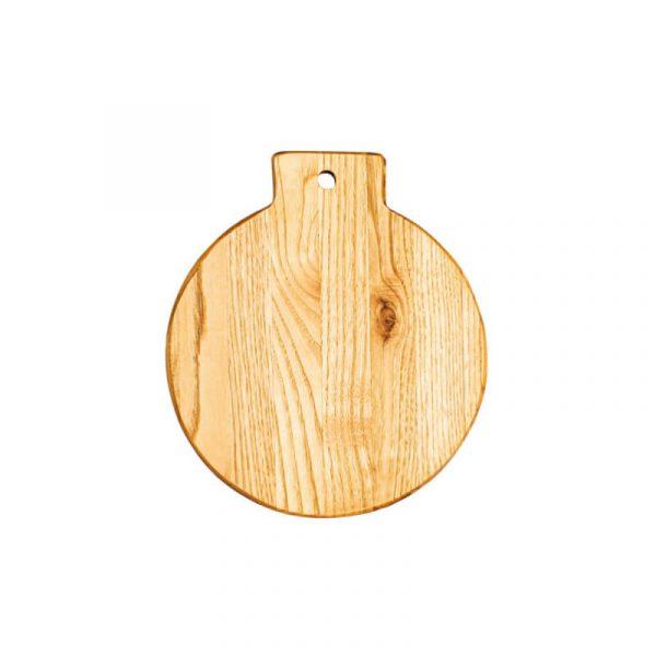 Πιατέλα ορεκτικών στρογγυλή από ξύλο καστανιάς Φ25x1.9cm
